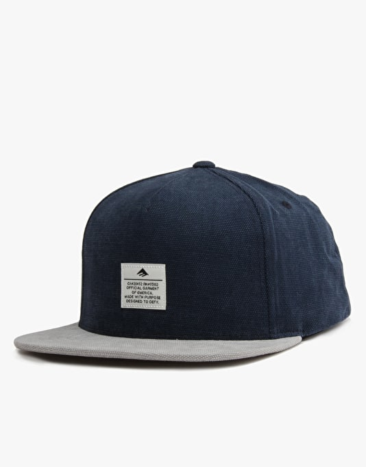 Emerica Standard Issue Snapback Cap - Navy