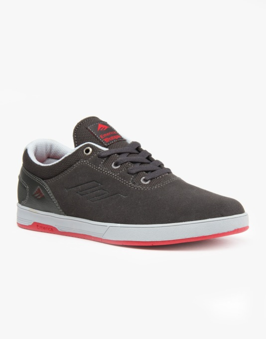 Emerica Westgate CC Skate Shoes - Grey/Red