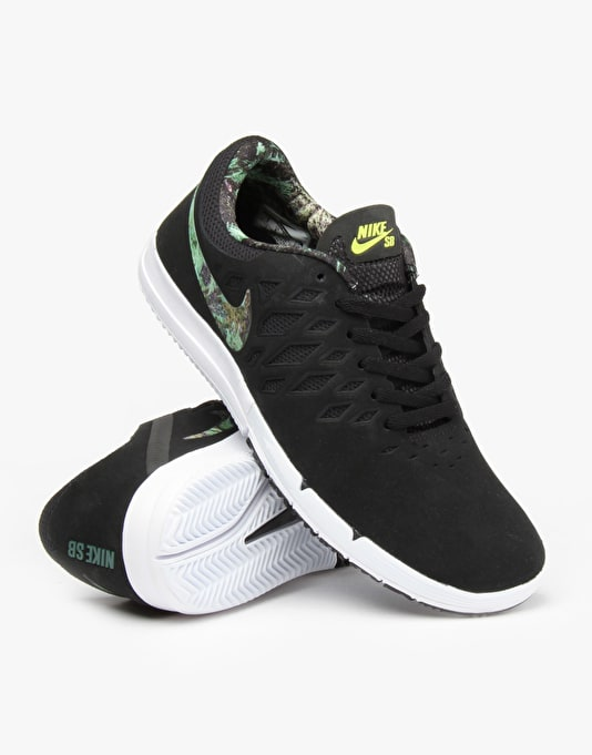 Nike SB Free Skate Shoes - Black/Gorge Green-Black-White