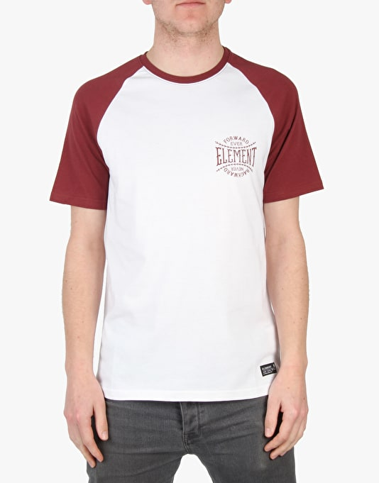 Element Baseball Ellis Raglan T-Shirt - Oxblood
