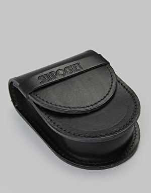 Sunpocket Beach Bum Leather Sunglasses Case - Black