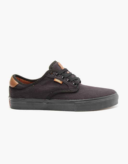 Vans Chima Ferguson Pro Skate Shoes - Black/Black
