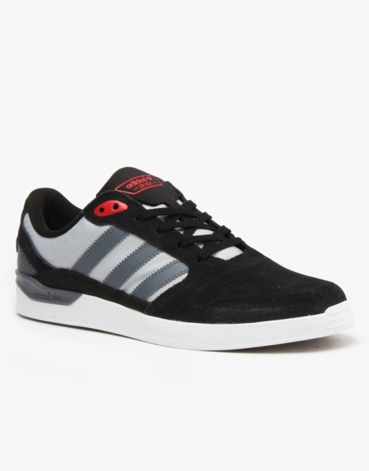 Adidas ZX Vulc Skate Shoes - Core Black/Onyx/Collegiate Red