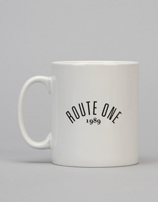 Route One Arch Logo Mug - White