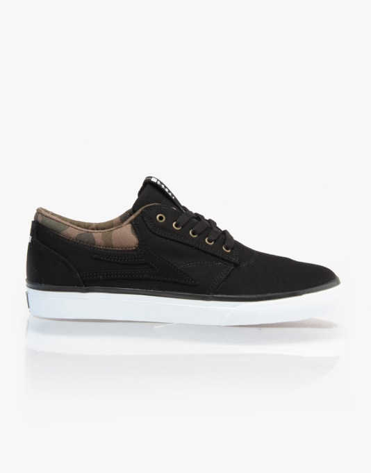 Lakai Griffin SMU Skate Shoes - Black/Camo Canvas