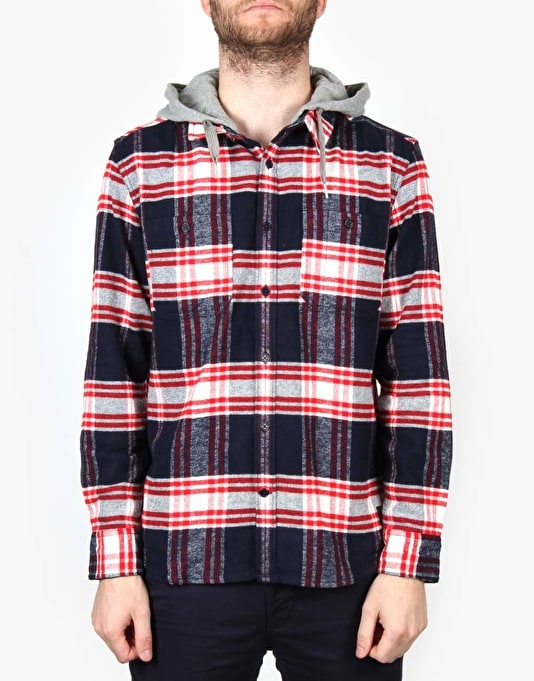 DC Hood Up LS Shirt - Blue Iris