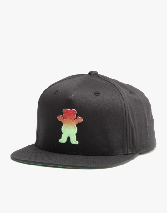 Grizzly Sunset OG Snapback Cap - Black