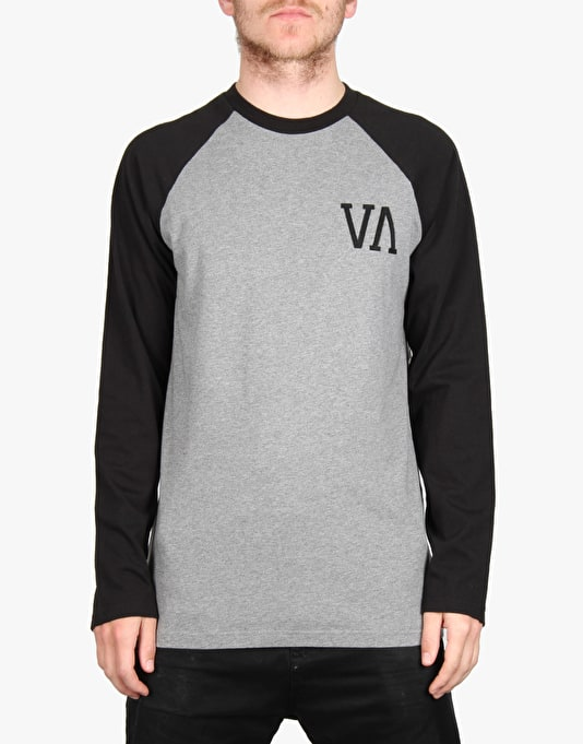 RVCA Infield L/S T-Shirt - Grey Noise