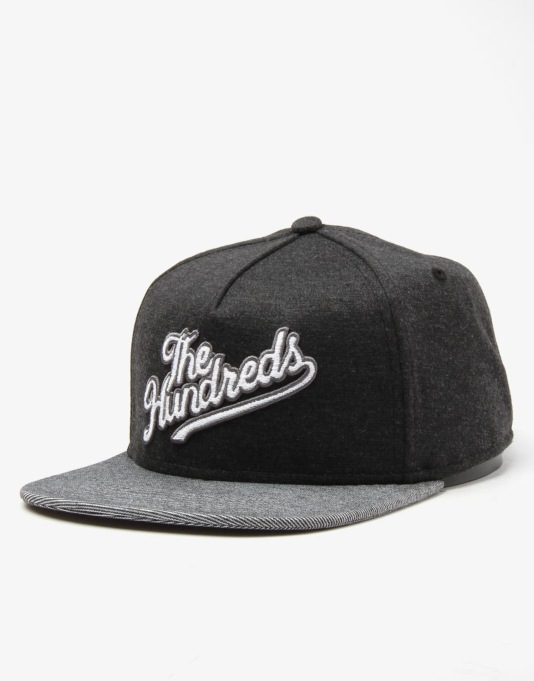 The Hundreds Slant Snapback Cap - Black