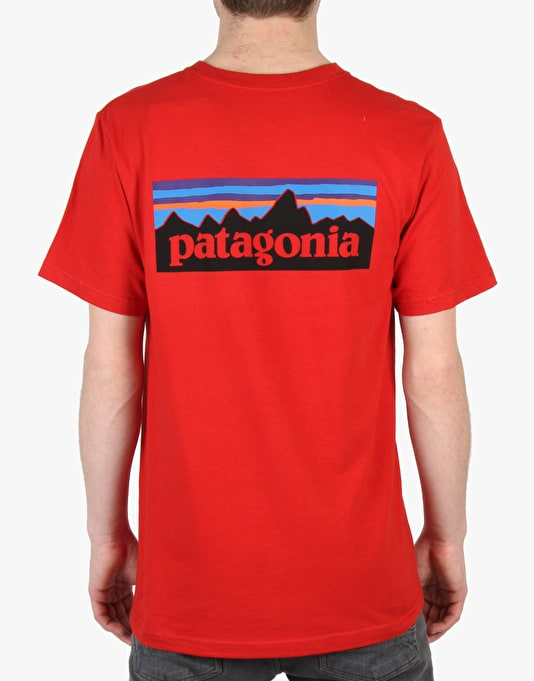 Patagonia P6 Logo T-Shirt - Cochineal Red
