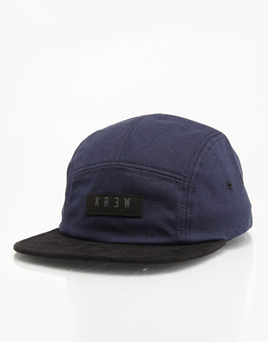 Kr3w Departed 5 Panel Cap - Indigo