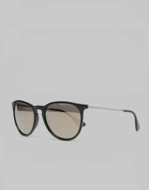 Ray-Ban Erika Sunglasses - Black/Light Brown RB4171 601/5A 54