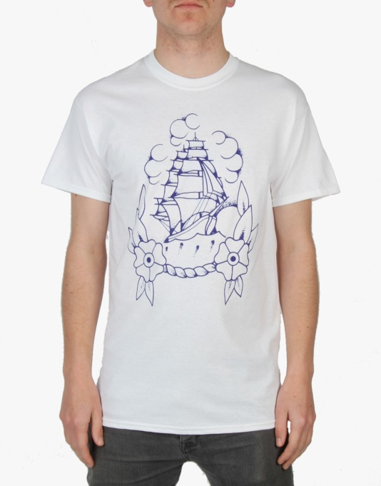 Scarred For Life Ship T-Shirt - White
