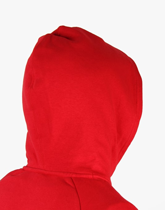 Nike SB Icon Pullover Hoodie Fleece- Gym Red/ White