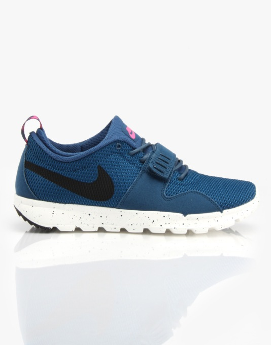 Nike SB Trainerendor Skate Shoes - Blue Force/Sail/Pink Pow/Black