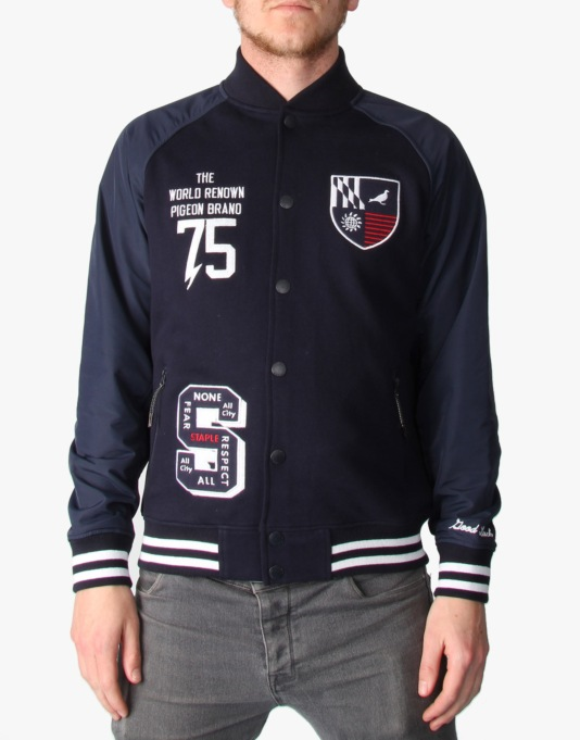Staple Ranger Varsity Jacket - Navy