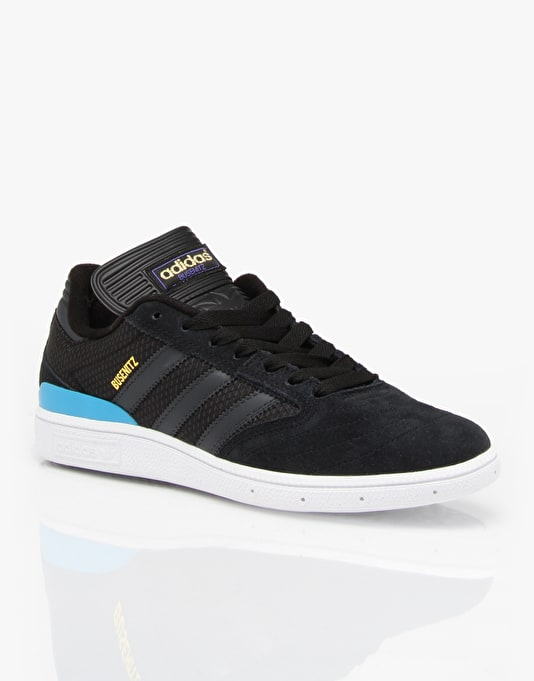 Adidas Busenitz Pro Skate Shoes - Core Black/Carbon/Solar Blue