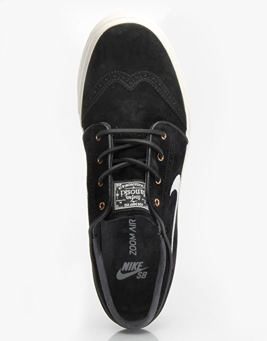 Nike SB Zoom Stefan Janoski Elite Skate Shoes - Black/ Sail