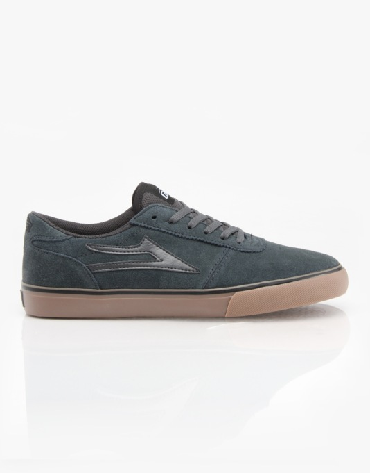 Lakai Manchester Skate Shoes - Grey/Gum Suede
