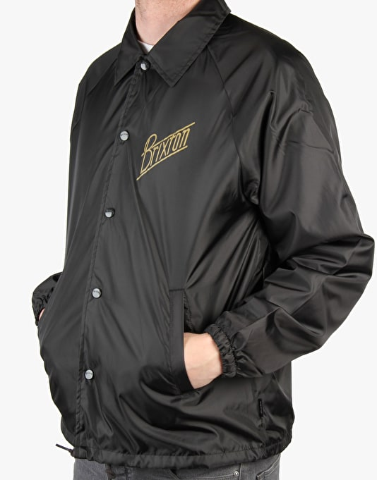 Brixton Wilson Coach Jacket - Black/Gold