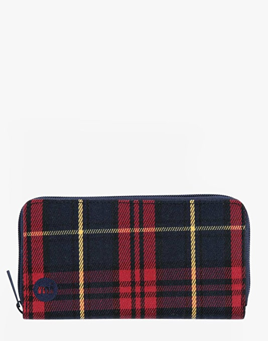 Mi-Pac Zip Purse - Tartan Burgundy