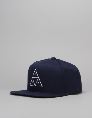 HUF Triple Triangle Snapback Cap - Navy