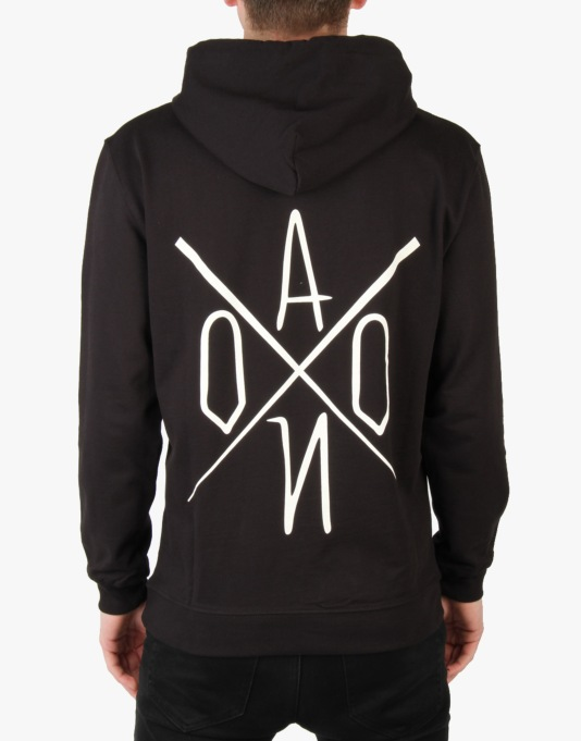 AONO Logo Pullover Hoodie - Black