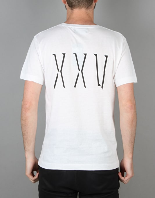 Route One XXV T-Shirt - White/Black