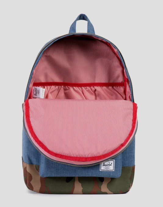 Herschel Supply Co. Settlement Backpack - Navy/Woodland Camo/Leather