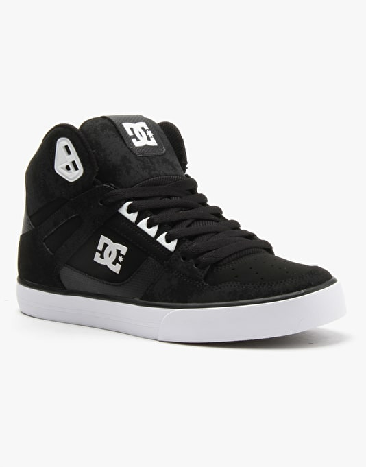 DC Spartan High WC Skate Shoes - Black/White