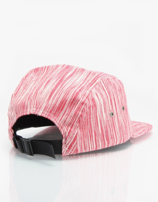 HUF Reign Box Logo 5 Panel Cap - Red