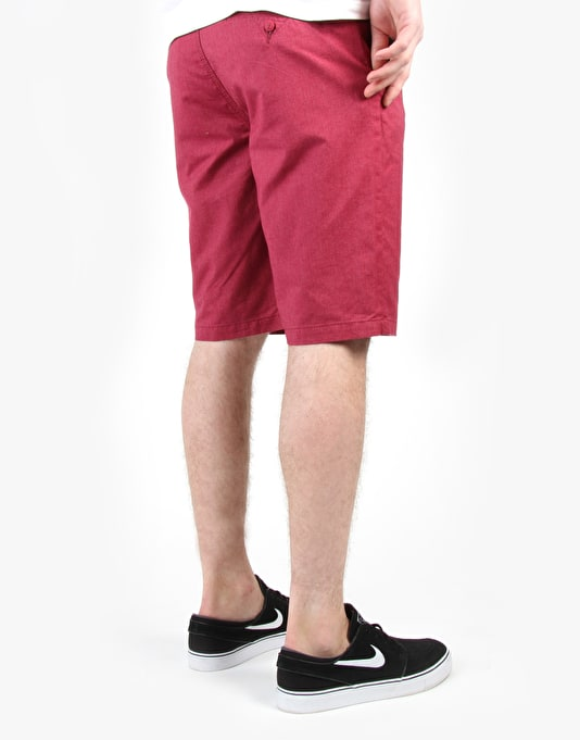 Vans Dewitt Chino Shorts - Beet Red Heather