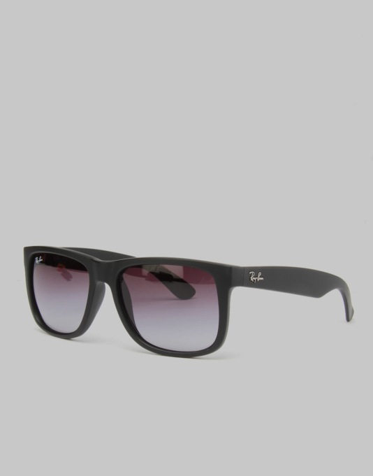 Ray-Ban 55 Justin Sunglasses - Black Rubber RB4165 601/8G