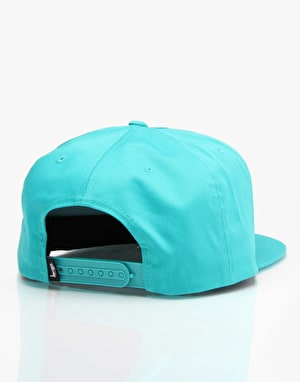Stüssy Big SS Link Snapback Cap - Turquoise