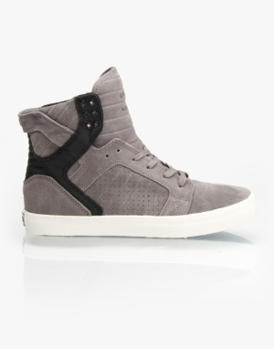Supra Skytop Skate Shoes - Grey/Black- Pristine