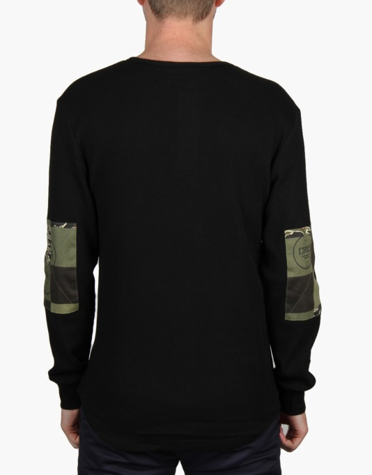 Crooks & Castles Explorer L/S Henley T-Shirt - Black