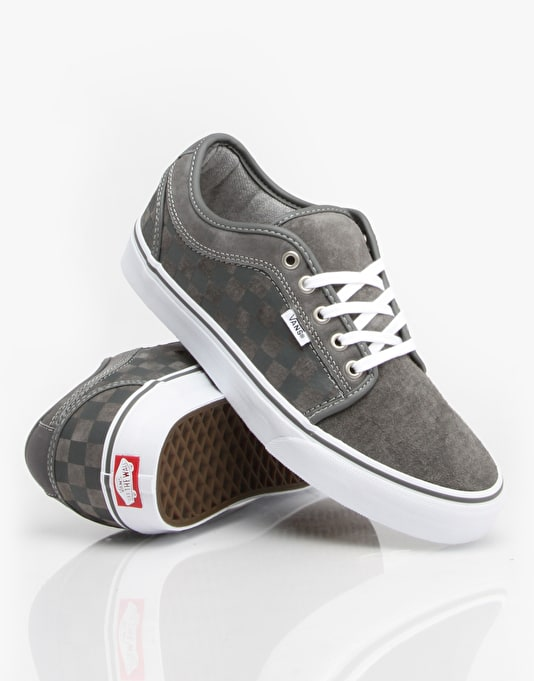 Vans Chukka Low Skate Shoes - Checkers Grey/ White