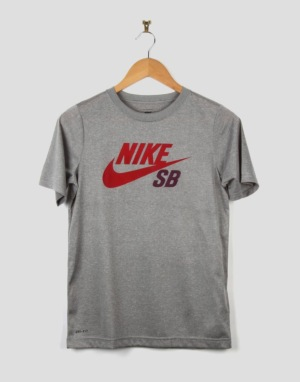 Nike SB Icon Boys T-Shirt - Dark Grey Heather