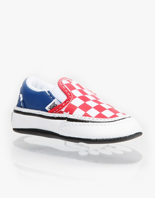 9203fed7aa10 Vans Classic Slip-On Crib Shoes - Red White Blue