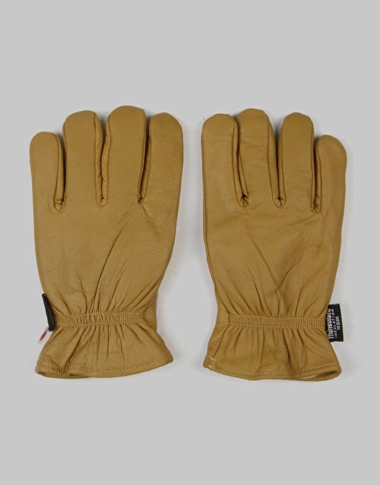 Dickies Lined Leather Gloves - Tan