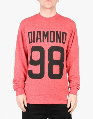 Diamond Supply Co. Reggie L/S T-Shirt - Heather Red