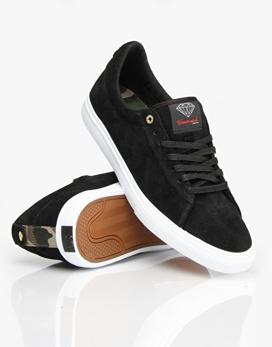 Diamond Supply Co. Crown Skate Shoes - Black Suede