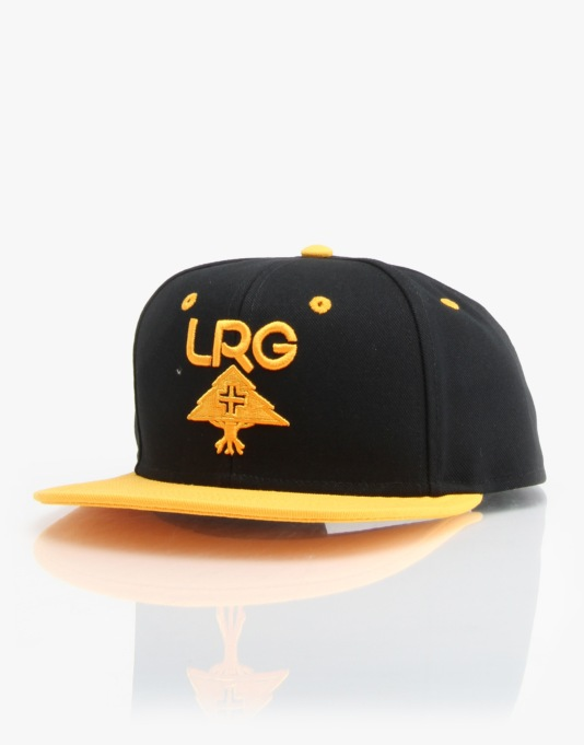 LRG LR-Group Snapback Cap - Black/Yellow