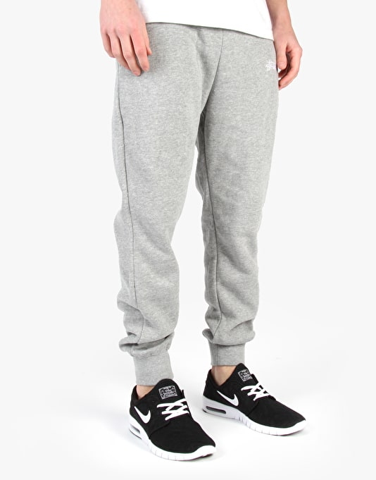 Stüssy Training Fleece Pants - Grey Heather