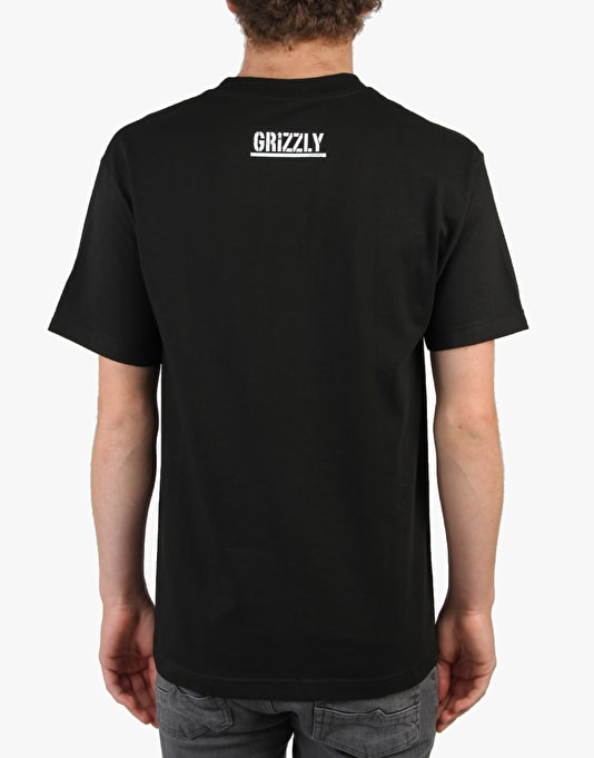 Grizzly Simplicity Bear Pocket T-Shirt Grizzly x Diamond - Black