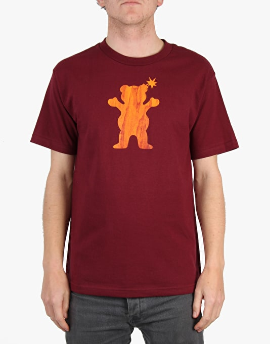 The Hundreds x Grizzly Grain Bear T-Shirt - Burgundy