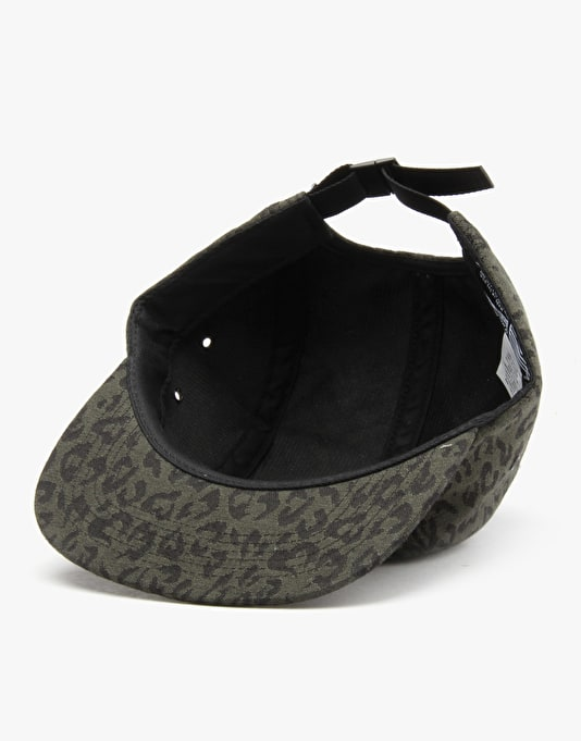 HUF Jacquard Leopard Volley 5 Panel Cap - Olive