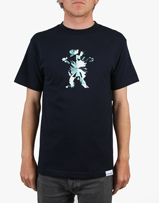 Grizzly x Diamond Simplicity Bear T-Shirt - Navy
