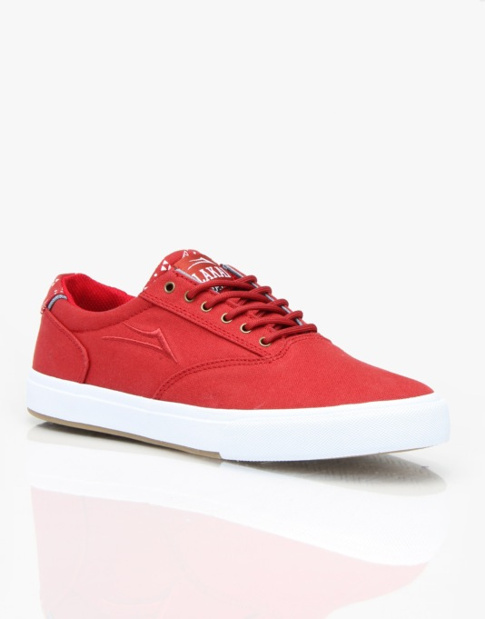Lakai x Fourstar Guymar Skate Shoes - Cardinal Canvas