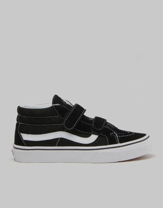 Vans SK8-Mid Reissue V Boys Skate Shoes - Black/True White